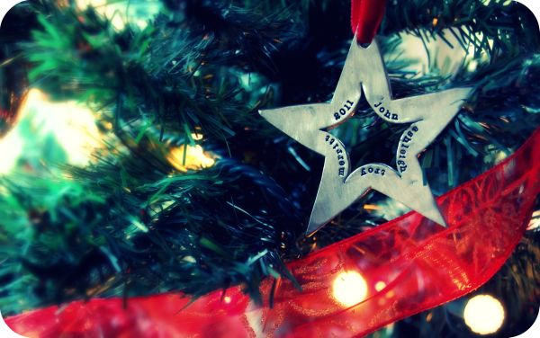 Lisa Leonard - Baker Family Molded Star Ornament