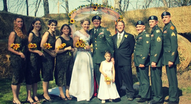 Military men with wives phrase and