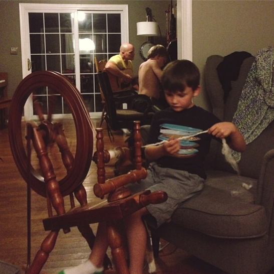 Spinning Wheel, Homework and Guitar - How We Do Monday Nights